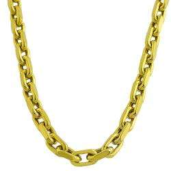 14k Yellow Gold Diamond cut Chain Link Necklace