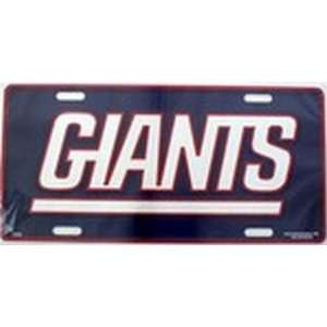 NY New York Giants NFL Football License Plate Plates Tags