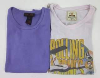 LOT 2 TRUNK LTD RALPH RALPH LAUREN Purple Shirts Sz 2 M