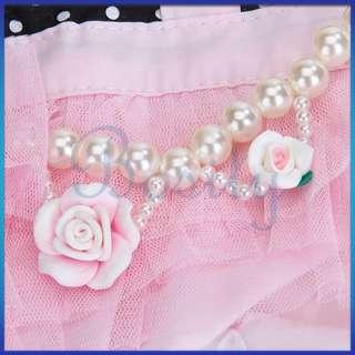 Pet Dog Jumpsuit Pants Clothes Apparel Pearl All Size