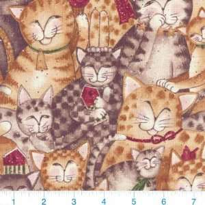45 Wide Susan Winget Purrfect Christmas Cats Meow Gold