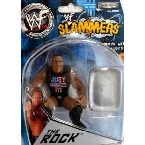 the ROCK   WWE WWF Wrestling Slammers 3 Inch Figure by