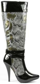 Snake High Heel Platform Tall Knee Boot Anne Michelle Chaos 03