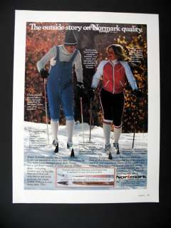Normark Cross Country Skis Poles Boots 1977 print Ad