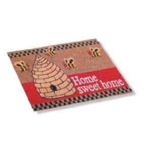 BEEHIVE honey BEE coir WELCOME door MAT DECOR doormat Office Products