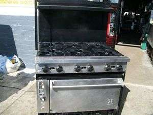 HEAVY DUTY 6 BURNERS/CONVECTION OVEN