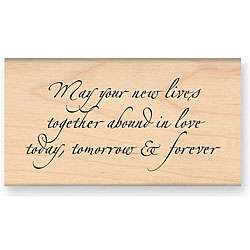 My Sentiments Exactly Abound In Love Wood mounted Rubber Stamp
