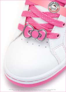 Sanrio Hello Kitty Ladys Comfy Casual Sneakers Shoes White Pink