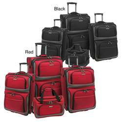 Travelers Choice Rugged Supreme 4 piece Luggage Set
