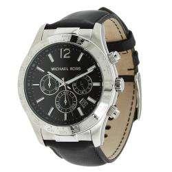 Michael Kors Mens Leather Strap Chronograph Watch