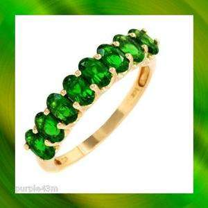 DIOPSIDE RING, VIBRANT GREEN, IN SOLID 14K YELLOW GOLD