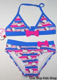 HELLO KITTY Girls 4 5 6 6X 7 8 10 12 Bikini SWIMSUIT Bathing Suit