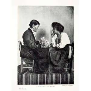 com 1904 Print Lesson Lace Making Women Portrait Sicily Italy Costume