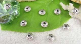 80pcs Tibetan silver round spacer beads FC10433