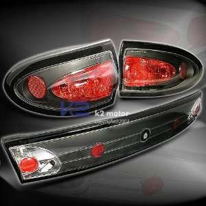 Chevy Cavalier 4Dr Tail Lights Euro Black Taillights 2003 2004 2005 03
