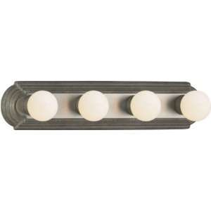 Forte Lighting 5245 04 95 Brushed Nickel / River Rock Bath