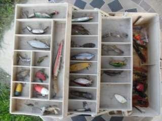 Fishing tackle box full of lures and fishing tackle nice box