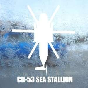 CH 53 SEA STALLION White Decal Military Soldier Car White