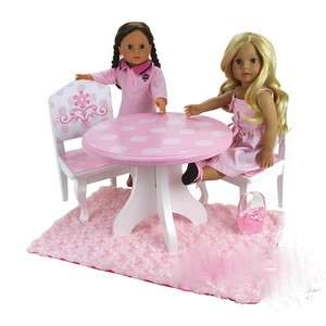 Hand Painted Table and Chair Set fit American 18 inch dolls
