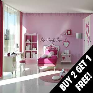 Live Laugh Love Wall Decal *Many Sizes Colors* Wall Mural Custom