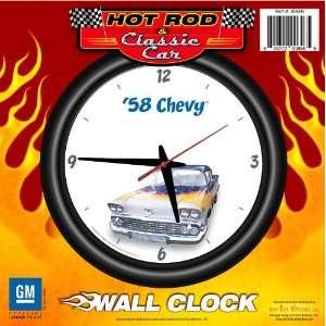 Wall Clock Flames   Chevrolet, Hot Rod, Classic Car