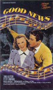VHS: GOOD NEWS..JUNE ALLYSON PETER LAWFORD#