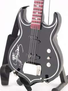 Miniature Bass Guitar Gene Simmons KISS & Strap