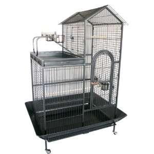 Brand New Parro Bird Wrough Iron Cage Villa op w/ Parro oys 36 x