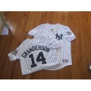 MLB New Curtis GRANDERSON #14 New York YANKEES XXL Home WHITE Baseball