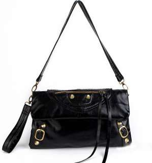 C2420 New Fashion Womens Faux Leather Rivets Bags Hanbags