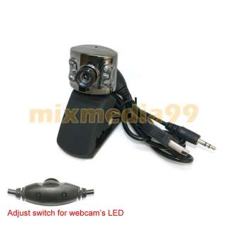 USB 300K 6 LED WEBCAM WEB CAMERA w/MIC FOR PC SKYPE MSN