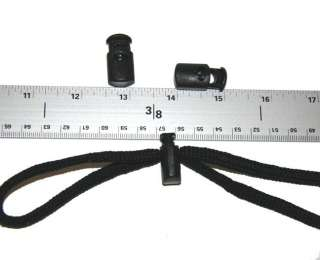 10   Rounded Cord Locks Black Plastic