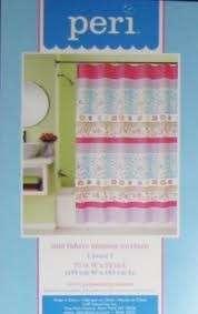 NIP Peri Peace Fabric Shower Curtain 70W X 72L
