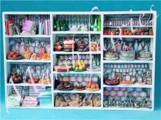 MF 1/12 Dolls House Ooak Larder Cupboard/Pantry & Food