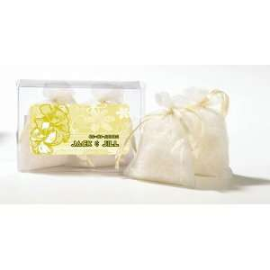 Wedding Favors Yellow Flowers Design Personalized Fresh Linen Scented