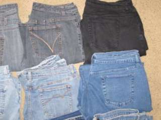 of 30 Womens Plus Size Venezia Lane Bryant & JMS wholesale denim jeans