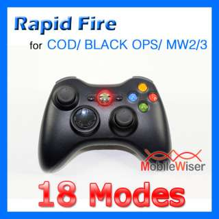 MODDED XBOX 360 CONTROLLER RAPID FIRE 18 MODE COD OPS MW2 MW3 RED LED