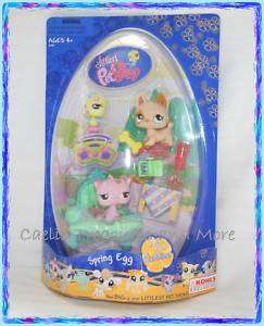 Littlest Pet Shop SPRING EGG Bird Dog Cat 602  604 NEW