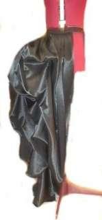 Steampunk Bustle Overskirt Steam Punk Victorian Gothic Black Tie On
