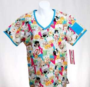 PET CARE Missy Top MEDIUM Nursing Nurse Scrubs