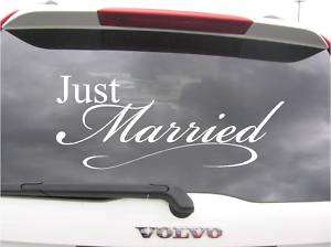 Just Married~Wedding Car Decoration Vinyl Decal Sticker