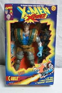 MARVEL COMICS X MEN X FORCE CABLE TOY BIZ DELUXE EDITION