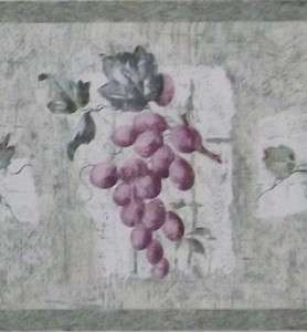 Fruit Wallpaper Grapes Pears Apple Country Kitchen Wall