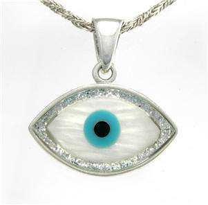 Evil Eye, Good Luck Charm, 925 Sterling Silver Pendant