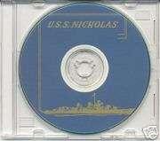 USS Nicholas DD 449 CRUISE BOOK WWII CD Navy Photos