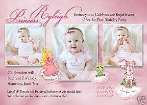 Personalized Photo Princess Birthday Invitations