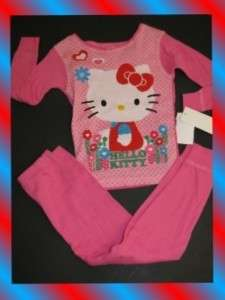 NWT original HELLO KITTY sleep pajama set GIRLS 4 6 8