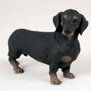 Dachshund Hand Painted Collectible Dog Figurine Black