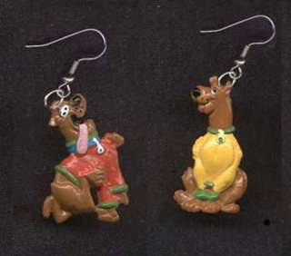 Funky SCOOBY DOO EARRINGS Dog Cartoon Character Jewelry