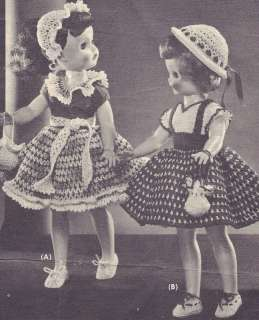 Vintage Crochet PATTERN Polly Molly Doll Clothes Dress